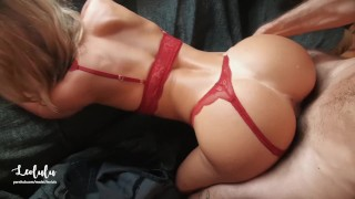 Hot Sexy Girlfriend In Red Lingerie Fuck & Squirts!! Amateur Couple LeoLulu Video XXX Porn Tube Video Image