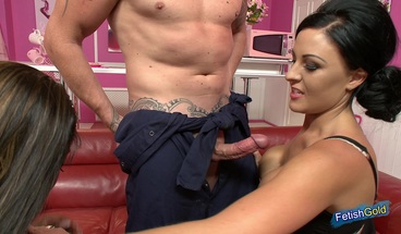 Intense Threesome With Lucky Plumber And Two Horny MILFs Video XXX Porn Tube Video Image