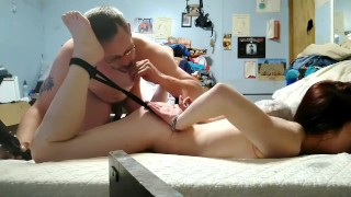 PETITE SLUT GETS HER ASS LICKED AND PUSSY SPANKED WITH A BELT Video XXX Porn Tube Video Image